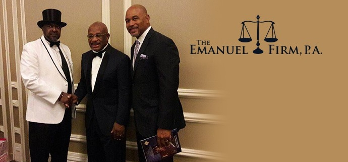 Orlando Lawyer Charles Emanuel Introduces Willie E Gary at Black Tie Affair
